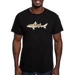 Leopard Shark Men's Fitted T-Shirt (dark)