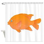 Garibaldi Damselfish fish Shower Curtain