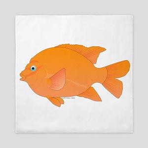 Garibaldi Damselfish fish Queen Duvet