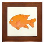 Garibaldi Damselfish fish Framed Tile