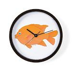 Garibaldi Damselfish fish Wall Clock