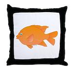 Garibaldi Damselfish fish Throw Pillow