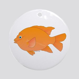 Garibaldi Damselfish fish Ornament (Round)