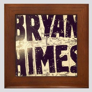 "Bryan Himes ""Looking For R. L."" Framed Tile"