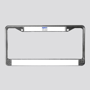 poppy-fresh-blue-gray License Plate Frame