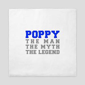 poppy-fresh-blue-gray Queen Duvet