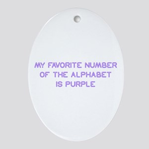 my-favorite-number-so-purple Ornament (Oval)