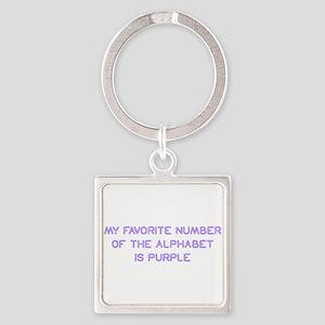 my-favorite-number-so-purple Keychains