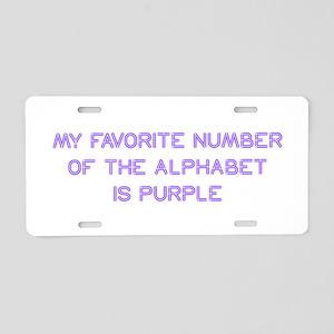 my-favorite-number-so-purple Aluminum License Plat