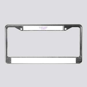 my-favorite-number-so-purple License Plate Frame