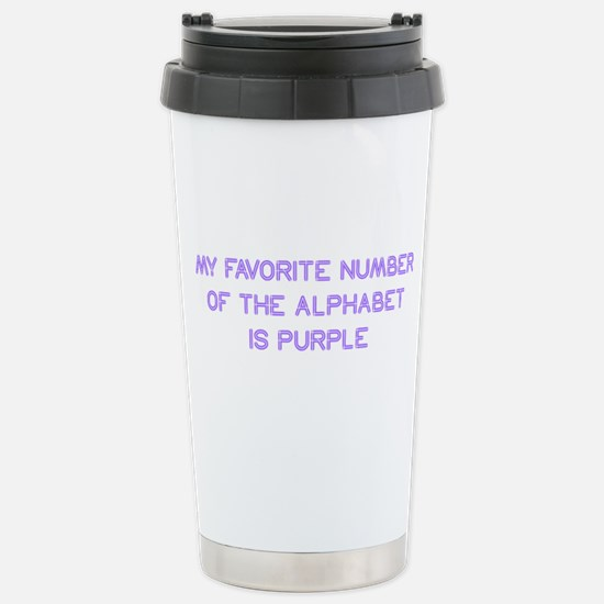 my-favorite-number-so-purple Travel Mug