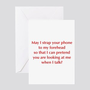 may-I-strap-your-phone-opt-red Greeting Card