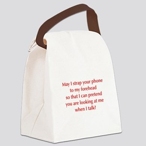 may-I-strap-your-phone-opt-red Canvas Lunch Bag