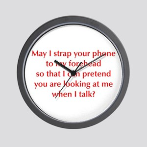 may-I-strap-your-phone-opt-red Wall Clock