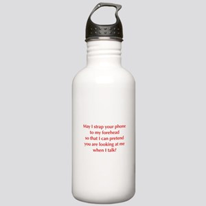 may-I-strap-your-phone-opt-red Water Bottle
