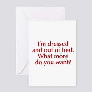Im-dressed-opt-red Greeting Card
