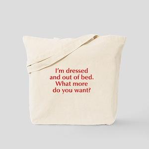 Im-dressed-opt-red Tote Bag