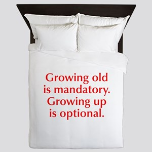 growing-old-opt-red Queen Duvet