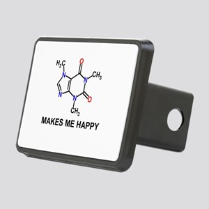 Caffeine Molecule Makes Me Happy Hitch Cover