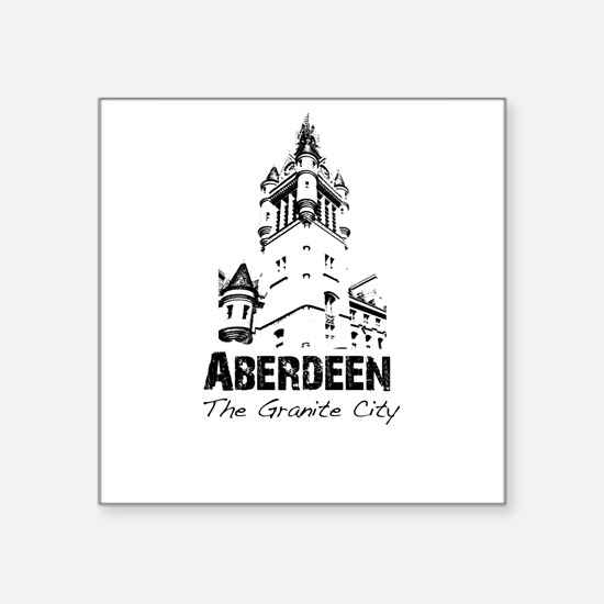 "Aberdeen - The Granite City Square Sticker 3"" x 3"""