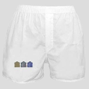 Beach Huts Art Boxer Shorts