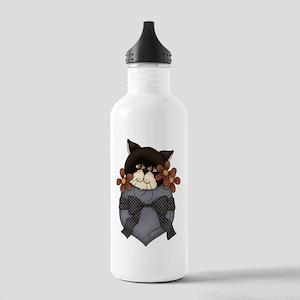 Pocket Kitty Black Stainless Water Bottle 1.0L