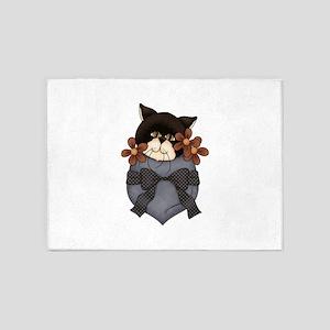 Pocket Kitty Black 5'x7'Area Rug