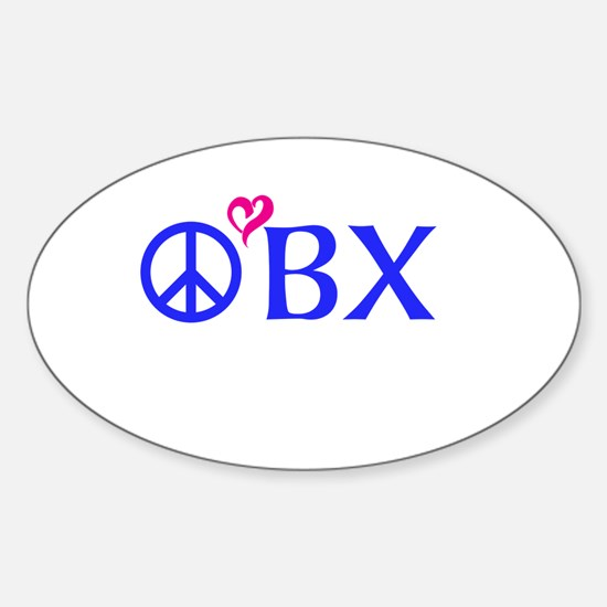 Outer Banks, OBX, Peace, love, Decal