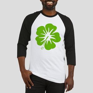 Lime Green Hibiscus Baseball Jersey