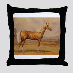 Palomino Horse Throw Pillow