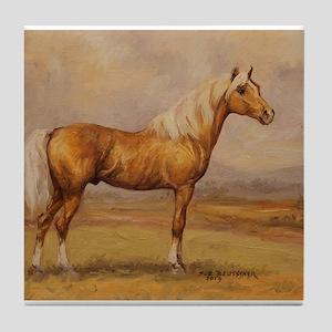 Palomino Horse Tile Coaster