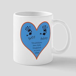 Grandchildren leave their handprints - 2 kids Mug