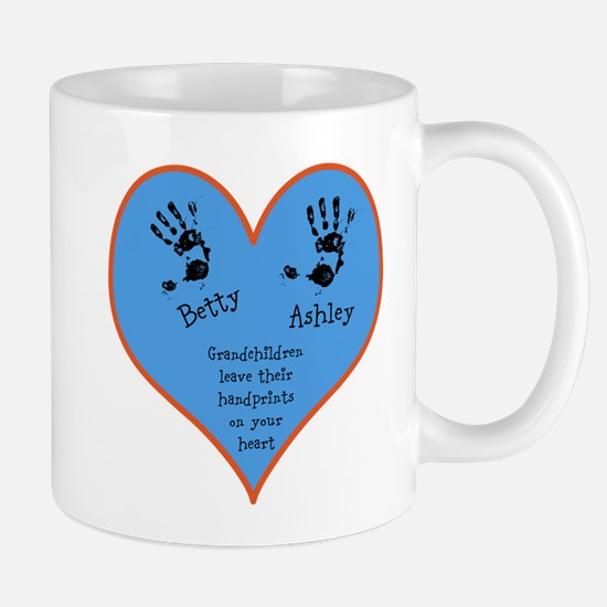 Grandchildren leave their handprints - 2 kids Mug