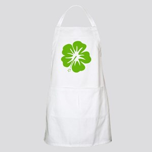 Lime Green Hibiscus Apron