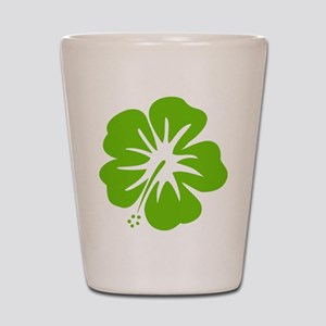 Lime Green Hibiscus Shot Glass
