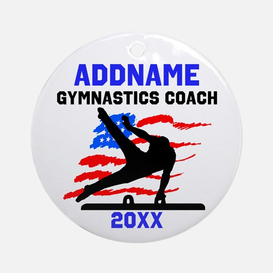 MENS GYM COACH Ornament (Round)