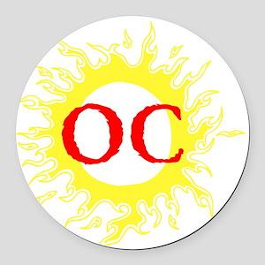 OC! Ocean City! Round Car Magnet
