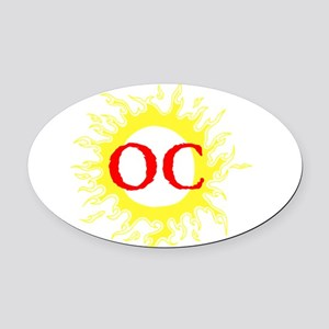 OC! Ocean City! Oval Car Magnet