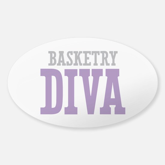 Basketry DIVA Sticker (Oval)