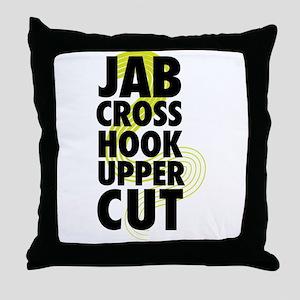 Jab Cross Hook Upper-cut Throw Pillow