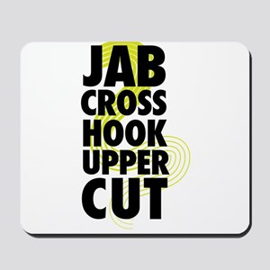 Jab Cross Hook Upper-cut Mousepad