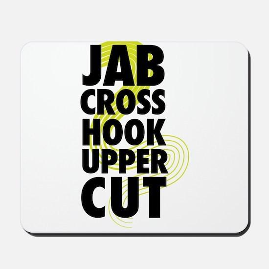 Jab Cross Hook Upper-cut Mousepad