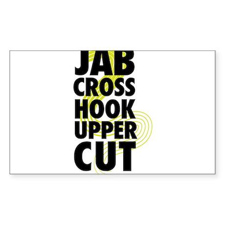 Jab cross hook upper cut decal
