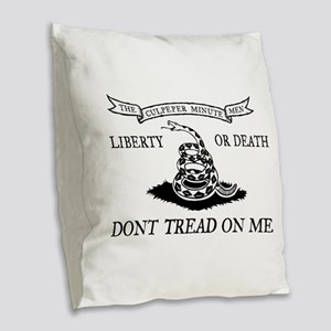 Culpeper Minute Men Burlap Throw Pillow