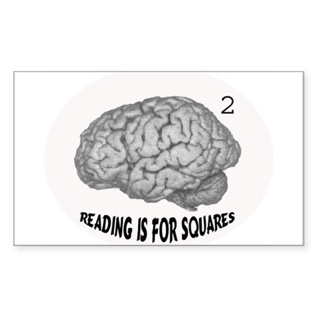 reading is for squares Rectangle Sticker