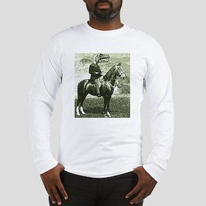 dinosaur man on horse Long Sleeve T-Shirt