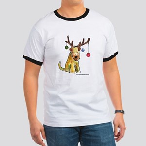 Wheaten terrier with Christmas Antlers Ringer T