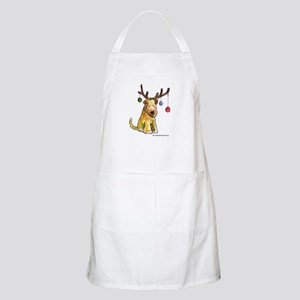Wheaten terrier with Christmas Antlers Apron
