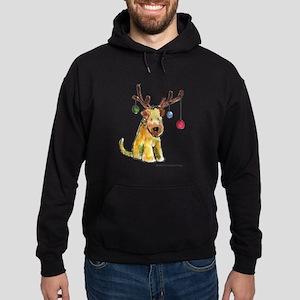 Wheaten terrier with Christmas Antlers Hoodie (dar