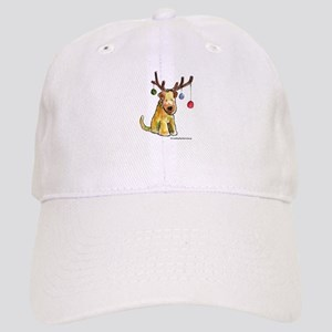 Wheaten terrier with Christmas Antlers Cap